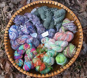 Handspun yarn from Magnus Wools, Peacham, Vermont