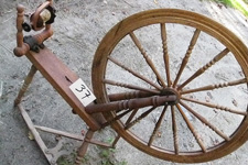 antique Canadian tilt tension production spinning wheel